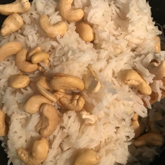 organic Thai rice, organic cashews (unsalted), unsweetened coconut flakes